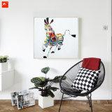 多彩で抽象的なアートワークの絵画