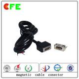 Conectores eletrônicos de cabos magnéticos masculinos e femininos personalizados