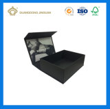 Qualitäts-volles schwarzes Geschenk-verpackender Papierkasten (mit Matt-Laminierung)