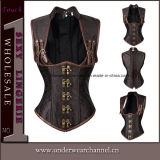 "Cintura gótico da roupa interior de Steampunk do látex que treina o espartilho ""sexy"" do Shaper (TA3863)"