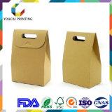 Boîte en papier Kraft largement utilisée et moins coûteuse avec poignée