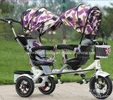 双生児のための倍2のシートの子供の子供の赤ん坊の三輪車