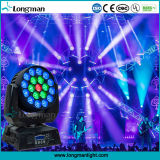 19*15W RGBW Cabezal movible LED DMX equipos de DJ Luz
