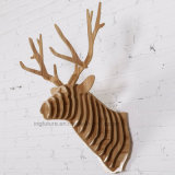 Bricolage Tête en bois créative en bois pour les ornements décoratifs de Noël à la maison