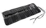 24PCS kosmetische Gezichts maakt omhoog de Borstels van de Make-up van de Uitrusting van de Borstel met het Zwarte Geval van het Leer