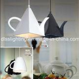 Lâmpada moderna do pendente da forma do Teapot da forma para a decoração da loja do café