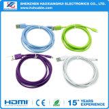 Datos originales de la alta calidad que cargan el cable micro del USB