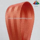 Venda por grosso de Nylon vermelho alaranjado 1,5 polegadas tecido do cinto de segurança