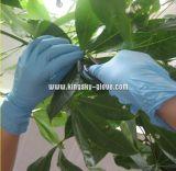 Работа Gloves-5912 рассмотрения порошка нитрила свободно устранимая