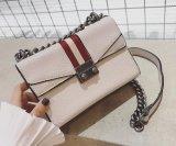 2017人の新式の粋なサドルのハンド・バッグの金属の鎖の対照カラー女性袋Hcy-5035
