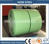 El color cubrió la bobina de acero de Aluzinc