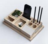Устроитель стола изготовленный на заказ логоса твердый деревянный для ювелирных изделий телефона пер