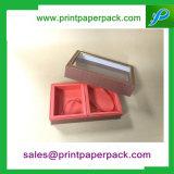 Dos pedazos del perfume rígido de la cartulina de la torta de embalaje del papel del rectángulo de regalo cosmético