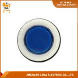 IP40保護レベルの青いプラスチック押しボタンスイッチPbs-001