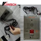 L'acier inoxydable de téléphone Emergency de VoIP téléphone à la caméra vidéo Knzd-20 Kntech