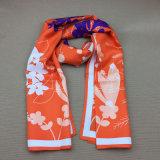 100% seda personalizada impresa moda Mens bufanda impreso