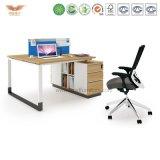 Escritorio de oficina de la melamina del administrador de oficinas con L vuelta de la dimensión de una variable (H90-0206)
