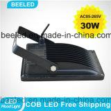 30W calientan la luz de inundación impermeable de la lámpara LED de la iluminación al aire libre blanca