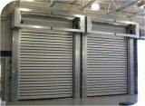 Porta rápida dura de alumínio do obturador de rolamento da garagem da segurança da espuma do plutônio do anti vento