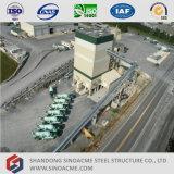 Centrale de malaxage concrète de structure élevée de bâti en acier