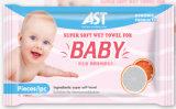 1 одиночной упакованное частью полотенце антисептикового безалкогольного органического младенца влажное