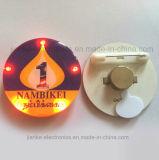 3569 - 인쇄되는 로고를 가진 선전용 번쩍이는 LED 가벼운 접어젖힌 옷깃 Pin (3569)