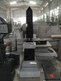 Angel CarvingのアメリカのBlack Granite Monument/Headstones