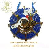 カスタム安いレプリカの整形子供のエナメルの金属ファブリックリボンメダル