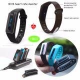 Gli sport impermeabilizzano il braccialetto astuto IP67 con il video di frequenza cardiaca