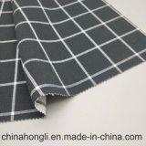 Leisure branco e preto verificar dois fios de Design para vestuário de malha de raiom de poliéster