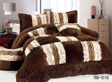 긴 Velvet Comforter Set 5PCS Winter Quilt 5PCS
