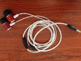 Fone de ouvido auricular de madeira portáteis para telemóvel