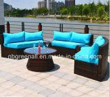Rattan ao ar livre/mobília de vime do jardim do sofá