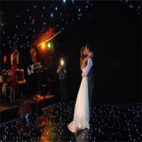 Azulejo portable iluminado negro de la danza del suelo de baile del LED