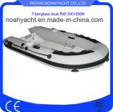 tubo del PVC di spessore di 0.9mm-1.2mm e barche gonfiabili rigide della vetroresina della nervatura rigida del guscio