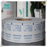 El papel de aluminio para la desinfección de hisopos con alcohol antes de Inkjeting