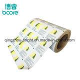 Papel metalizado papel de aluminio de gasa con alcohol