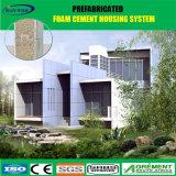 Casa prefabricada de vida del diseño del marco de acero de emparedado de la familia bien del panel