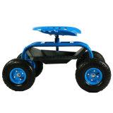 4개의 바퀴 정원 벤치, 통행세 손수레, 바퀴를 가진 정원 일 시트를 구르는 일