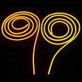 Licht van de uiterst dunne Amber LEIDENE Kabel van het Neon Flex