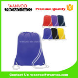 2017 Comercio al por mayor púrpura en blanco de poliéster 420t Sprot Drawstring Backpack