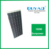 Больше изготовления панели солнечных батарей 150W Китая электричества Semi гибкого