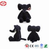 Black Elephant Long Nose Soft Stuffed Plush Sitting Toy