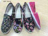 La plus défunte injection bon marché de Madame chaussures occasionnelles de mode folâtre les chaussures de toile d'impression (HP7)