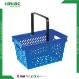 Panier à provisions au détail en plastique de supermarché 28L