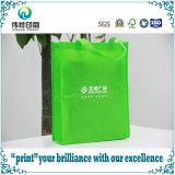 손잡이를 가진 비 길쌈된 부대를 인쇄하는 녹색 Environment-Friendly 쇼핑