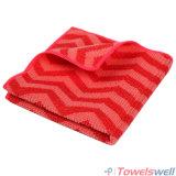 Красная ткань тарелки кухни Chevron Microfiber