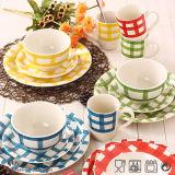Insieme di pranzo poco costoso di ceramica del gres di disegno di modo