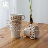 骨灰磁器の新しい印刷されたコーヒーおよび茶マグのスタック可能陶磁器のマグ