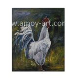 Pinturas al Óleo de los animales de pollo las imágenes de la pared de lienzo blanco